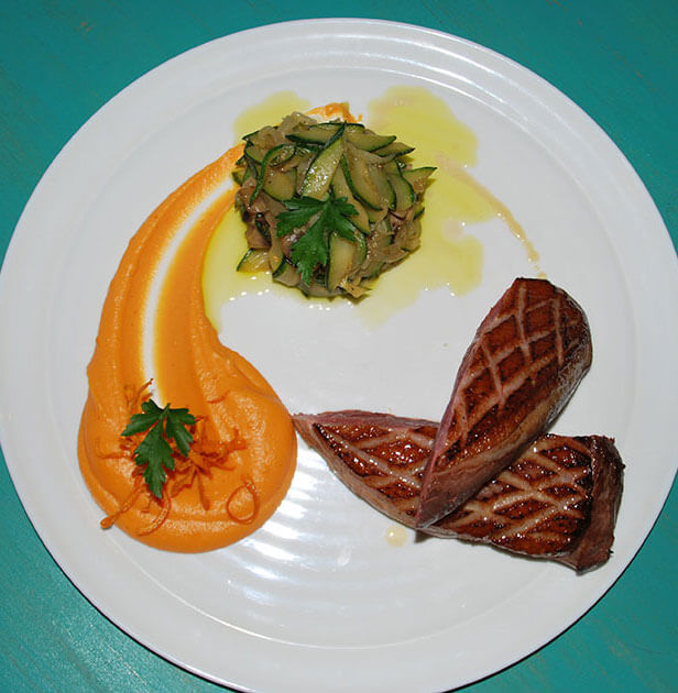 Plat proposé à la Brasserie du Domaine de Lincou restaurant à Requista